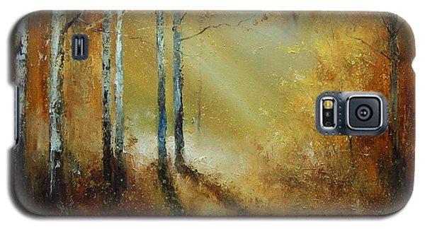 Golden Light In Autumn Woods Galaxy S5 Case
