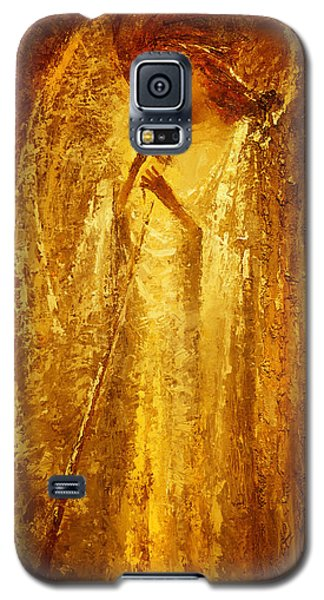 Golden Light Of Angel Galaxy S5 Case