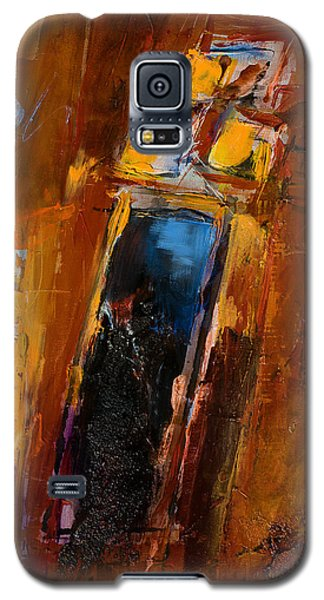 Galaxy S5 Case featuring the painting Golden Lights by Elise Palmigiani