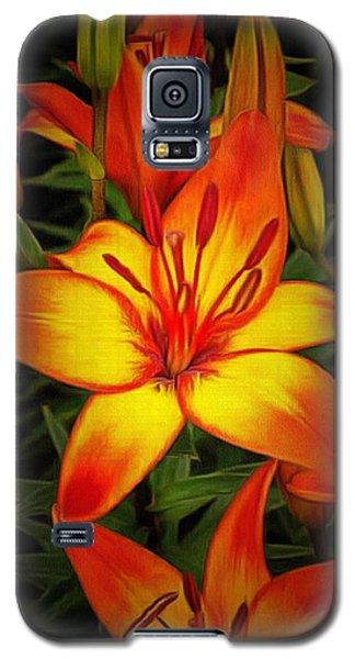 Golden Lilies Galaxy S5 Case