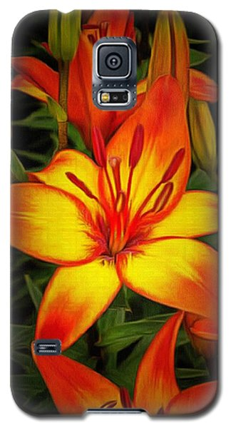 Golden Lilies Galaxy S5 Case