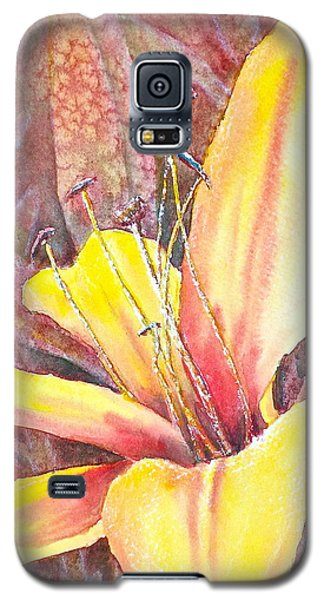Golden Lily Galaxy S5 Case by Carolyn Rosenberger