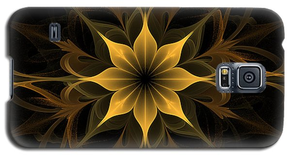 Golden Lotus Swirls Galaxy S5 Case