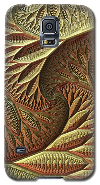 Galaxy S5 Case featuring the digital art Golden by Lyle Hatch