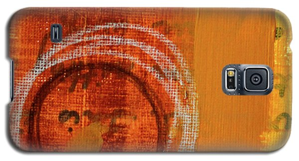 Galaxy S5 Case featuring the painting Golden Marks 11 by Nancy Merkle