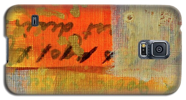 Galaxy S5 Case featuring the painting Golden Marks 12 by Nancy Merkle