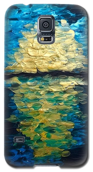 Golden Moon Reflection Galaxy S5 Case