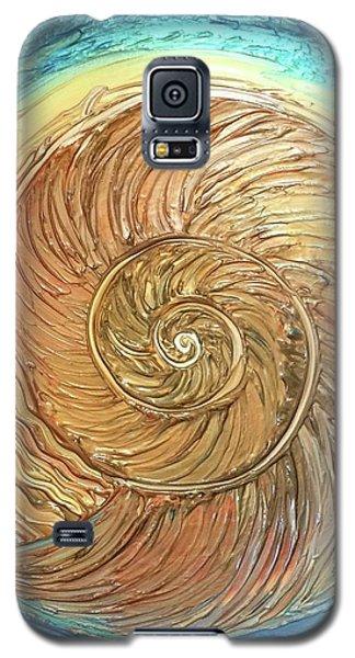 Golden Nautilus Galaxy S5 Case