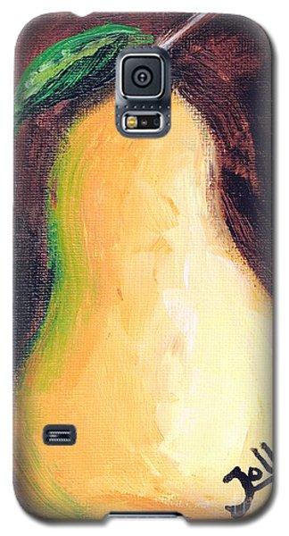 Galaxy S5 Case featuring the painting Golden Pear.. by Jolanta Anna Karolska
