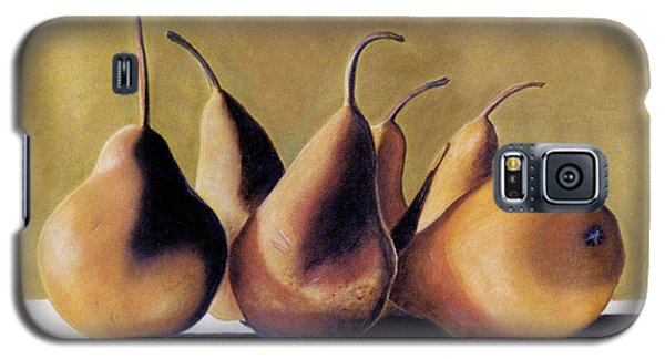 Galaxy S5 Case featuring the pastel Golden Pears 2 by Jan Amiss
