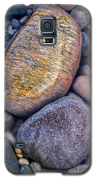 Galaxy S5 Case featuring the photograph Golden Pebble by Alexander Kunz