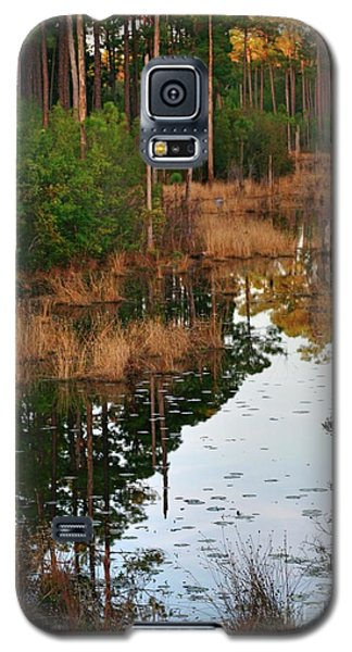 Galaxy S5 Case featuring the photograph Golden Pond by Lori Mellen-Pagliaro