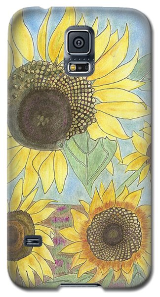 Galaxy S5 Case featuring the drawing Golden Quartet by Arlene Crafton