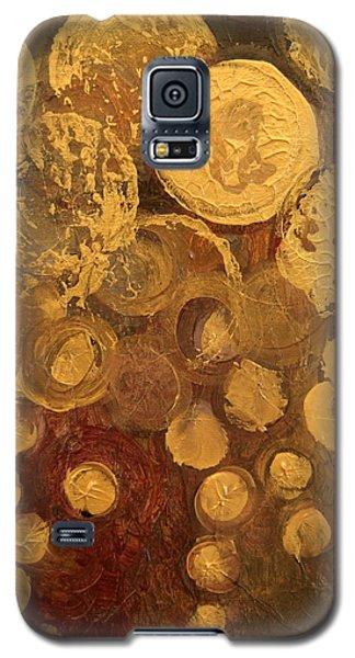 Golden Rain Abstract Galaxy S5 Case