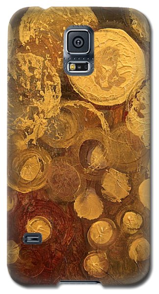 Golden Rain Abstract Galaxy S5 Case