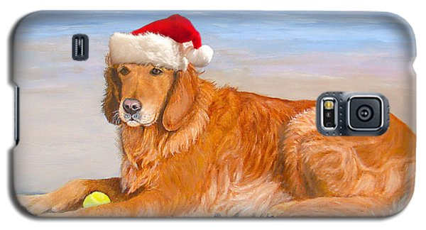 Golden Retreiver Holiday Card Galaxy S5 Case