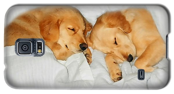 Golden Retriever Dog Puppies Sleeping Galaxy S5 Case