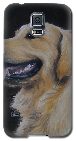 Galaxy S5 Case featuring the painting Golden Retriever Nr. 3 by Jindra Noewi