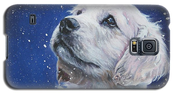 Golden Retriever Pup In Snow Galaxy S5 Case