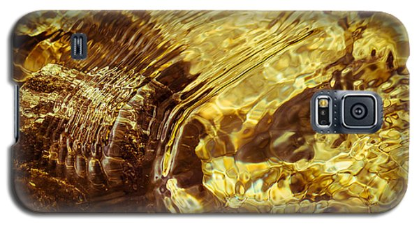 Golden Ripples Galaxy S5 Case