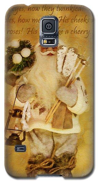 Golden Santa Card 2015 Galaxy S5 Case