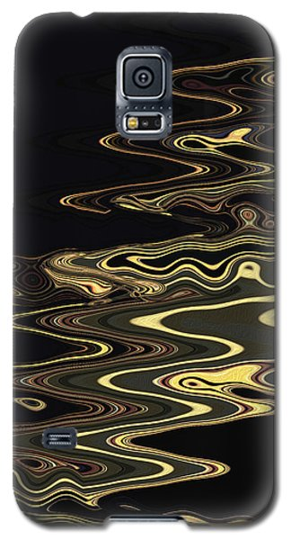 Golden Shimmers On A Dark Sea Galaxy S5 Case