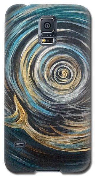 Golden Sirena Mermaid Spiral Galaxy S5 Case