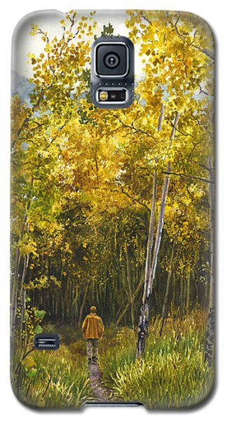 Galaxy S5 Case featuring the painting Golden Solitude by Anne Gifford