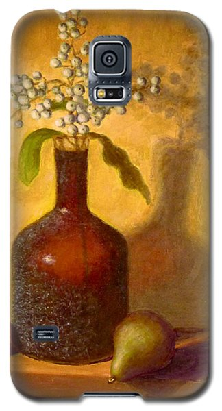 Galaxy S5 Case featuring the painting Golden Still Life by Joe Bergholm