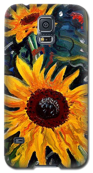 Golden Sunflower Burst Galaxy S5 Case