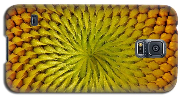 Galaxy S5 Case featuring the photograph Golden Sunflower Eye by Chris Berry