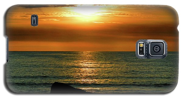 Galaxy S5 Case featuring the photograph Golden Sunset At The Beach IIi by Mariola Bitner