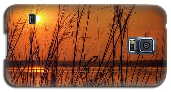 Golden Sunset At The Lake Galaxy S5 Case by John Williams
