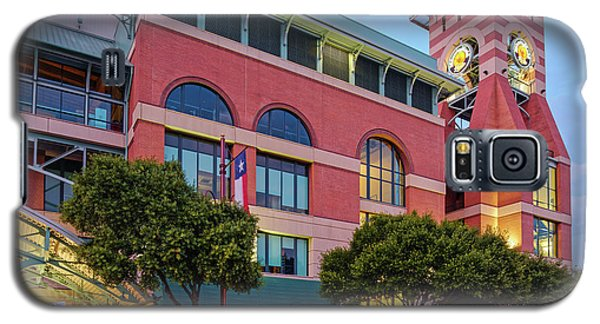 Golden Sunset Glow On The Facade Of Minute Maid Park - Downtown Houston Harris County Texas Galaxy S5 Case