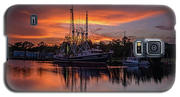 Golden Sunset On The Bayou Galaxy S5 Case