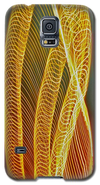 Galaxy S5 Case featuring the photograph Golden Swirl Abstract by Sean Griffin