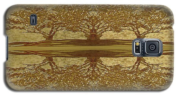 Golden Trees Reflection Galaxy S5 Case