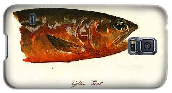 Trout Galaxy S5 Case - Golden Trout  by Juan  Bosco