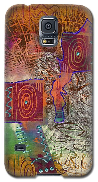 Galaxy S5 Case featuring the painting Golden Truth by Angela L Walker