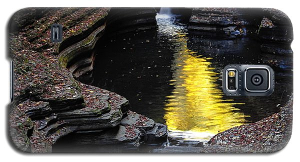 Galaxy S5 Case featuring the photograph Golden Water by Vilas Malankar