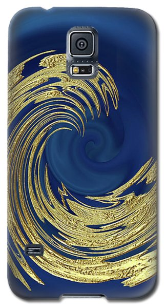 Golden Wave Abstract Galaxy S5 Case