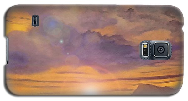 Galaxy S5 Case featuring the painting Golden Wave by Holly Martinson
