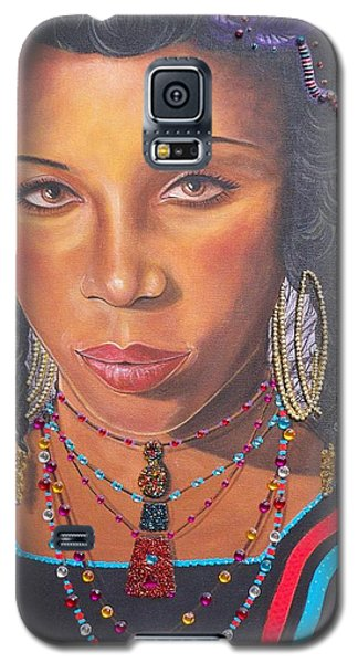 Golden Wodaabe Girl Galaxy S5 Case