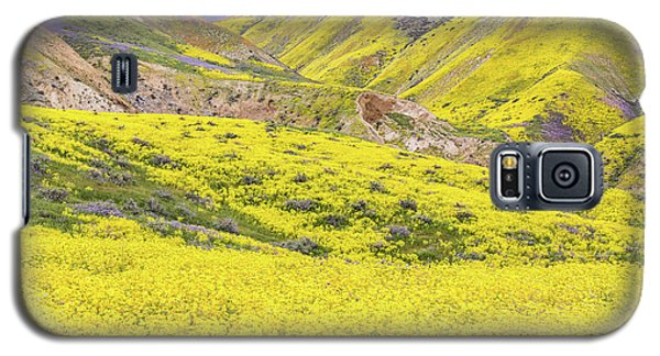 Galaxy S5 Case featuring the photograph Goldfields And Temblor Hills by Marc Crumpler