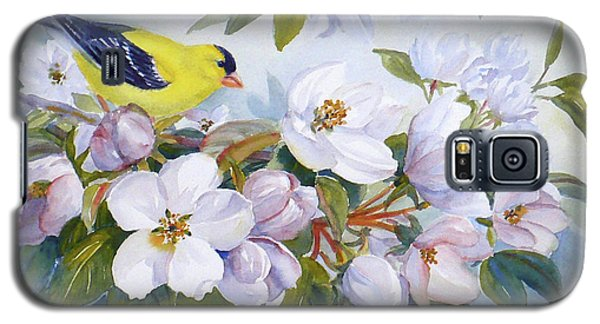 Goldfinch And Crabapple Blossoms Galaxy S5 Case