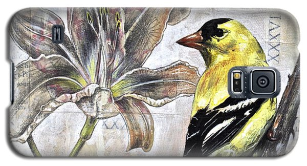 Goldfinch And Lily Galaxy S5 Case