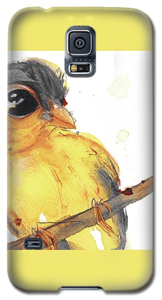 Galaxy S5 Case featuring the painting Goldfinch by Dawn Derman