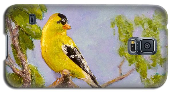 Galaxy S5 Case featuring the painting Goldfinch by Joe Bergholm