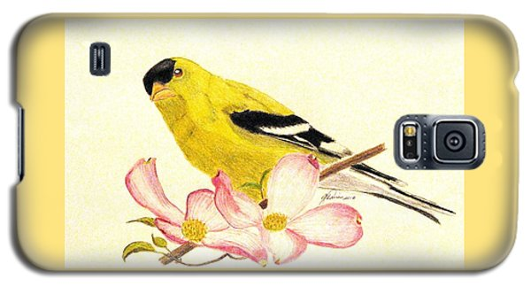 Goldfinch Spring Galaxy S5 Case by Angela Davies