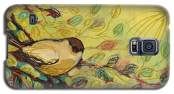 Wildlife Galaxy S5 Case - Goldfinch Waiting by Jennifer Lommers